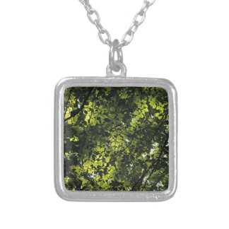 Sunshine through the Leaves Silver Plated Necklace
