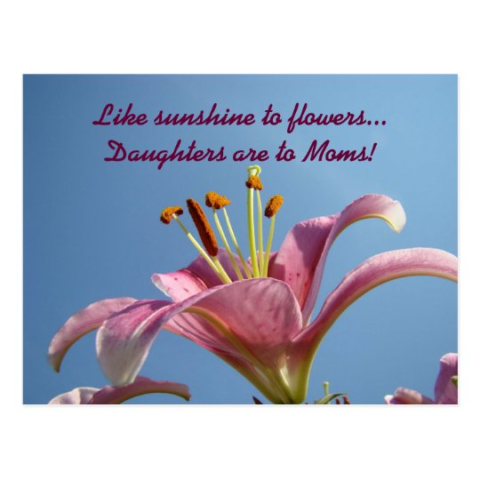 Sunshine to Flowers Daughters to Moms postcards