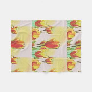 Sunshine Tulip Fleece Blanket