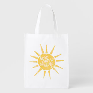 Sunshine Vintage Typography Quote Grocery Bag