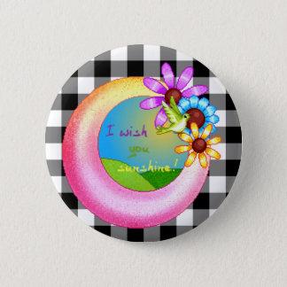 Sunshine Wish Pixel Art 2 Inch Round Button