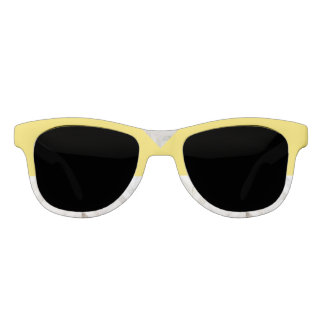 Sunshine Yellow and White Marble  Sunglasses