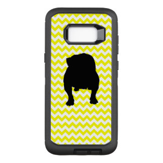 Sunshine Yellow Chevron With English Bull Dog OtterBox Defender Samsung Galaxy S8+ Case