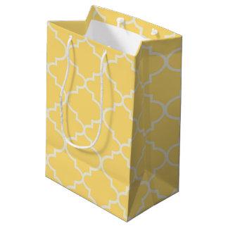 Sunshine Yellow Moroccan Lattice Medium Gift Bag