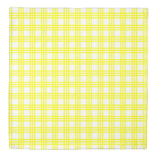 Sunshine Yellow Plaid and Polka Dot Reversible Duvet Cover