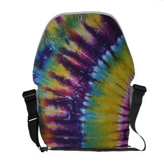 Sunshine Yellow Purple Tie Dye Messenger Bag