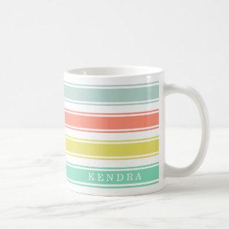 Sunwashed Neon Cabana Stripe Coffee Mug