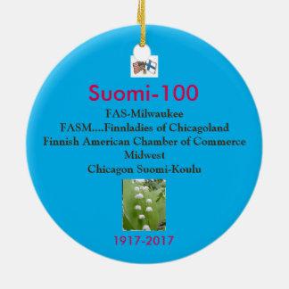 Suomi 100 Centennial Keepsake 1917-2017 Ceramic Ornament