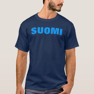 SUOMI (Finland) Blue on Blue T T-Shirt