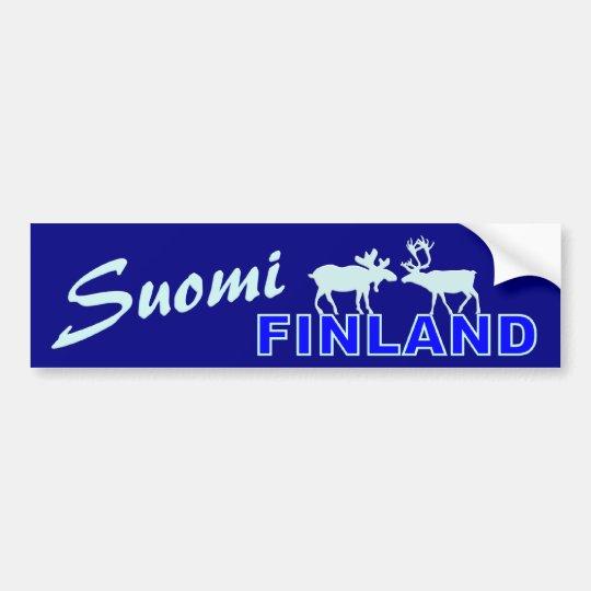 Suomi Finland bumpersticker Bumper Sticker