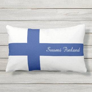 SUOMI FINLAND custom text flag pillow