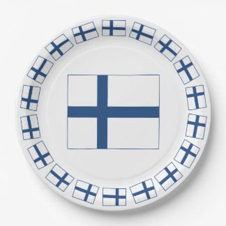 SUOMI FINLAND FLAG PAPER PLATE
