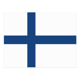 SUOMI FINLAND FLAG POSTCARD