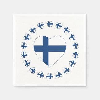 SUOMI FINLAND HEART SHAPE FLAG PAPER NAPKIN