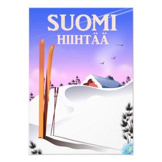 Suomi Hiihtää (Finland to ski) Photo Print