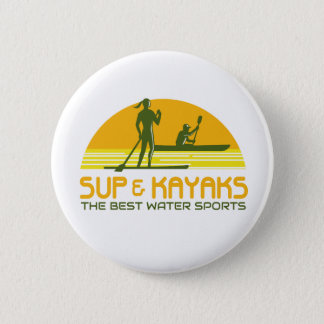 SUP and Kayak Water Sports Retro 2 Inch Round Button