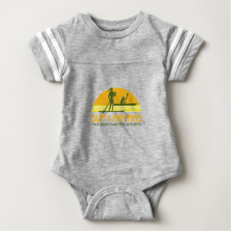 SUP and Kayak Water Sports Retro Baby Bodysuit