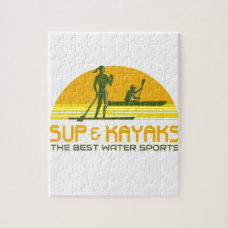 SUP and Kayak Water Sports Retro Jigsaw Puzzle