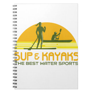 SUP and Kayak Water Sports Retro Notebook