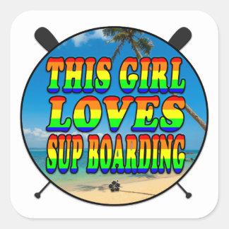 Sup Boarding   Sup Square Sticker