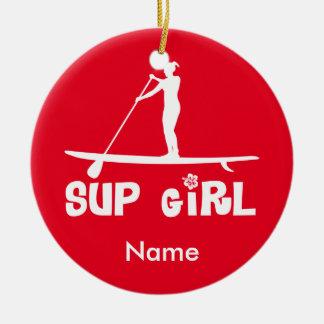 SUP Girl Ceramic Ornament