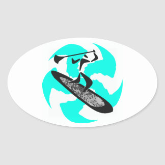 SUP IN BELIZE OVAL STICKER
