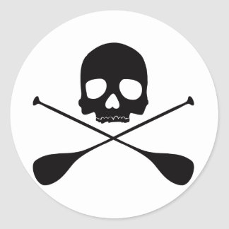 SUP Skull Classic Round Sticker
