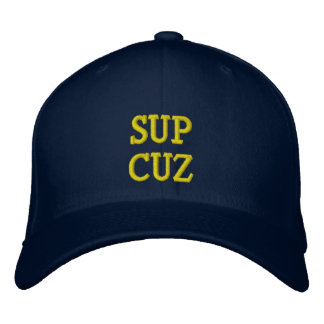 SUP SUP SUP SUP EMBROIDERED HAT