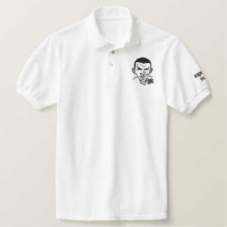 SUPA COOL MAN  -  WHITE POLO SHIRT