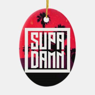 SUPADAMN Album Cover Art Ceramic Oval Ornament