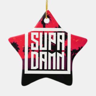 SUPADAMN Album Cover Art Ceramic Star Ornament