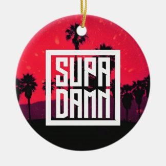 SUPADAMN Album Cover Art Round Ceramic Ornament