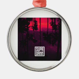 SUPADAMN Bleed Cover Art Silver-Colored Round Ornament