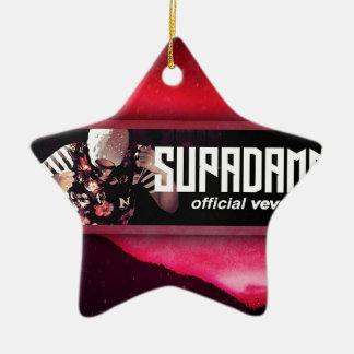 SUPADAMN VEVO Banner Ceramic Star Ornament