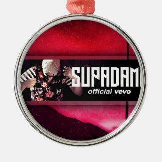 SUPADAMN VEVO Banner Silver-Colored Round Ornament
