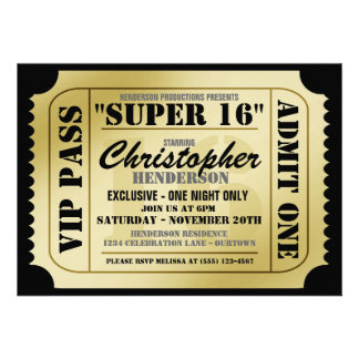 Photo : Ticket Invitations Template Images