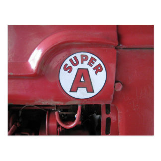 Super A Tractor Detail Postcard