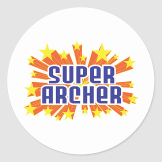Super Archer Classic Round Sticker
