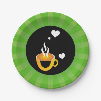 Super awesome coffee love design paper plate