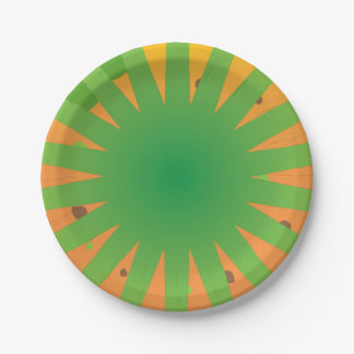Super awesome easter party rays design paper plate