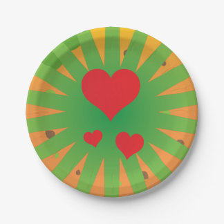 Super awesome easter party rays love design paper plate