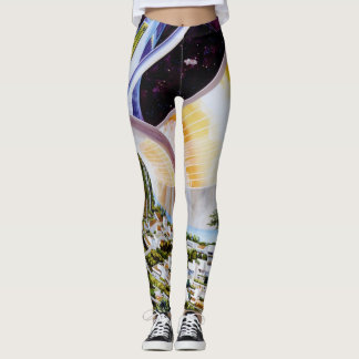 Super Awesome Space Station Astronaut Leggings