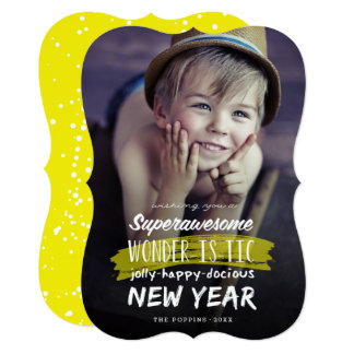 Super Awesome Wonderistic New Year Holiday Card