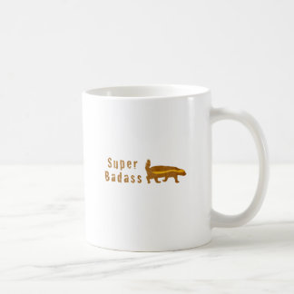Super Badass Honey Badger - Vintage Coffee Mug