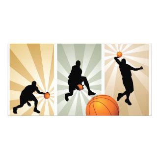super-basketball photo card template