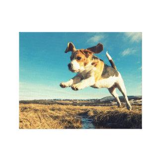 Super Beagle Dog - Premium Wrapped Canvas