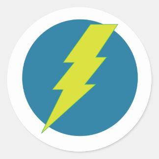 Super Blue Thunderbolt Classic Round Sticker