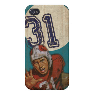 Super Bowl iPhone Skin With Cool Vintage Print iPhone 4/4S Covers