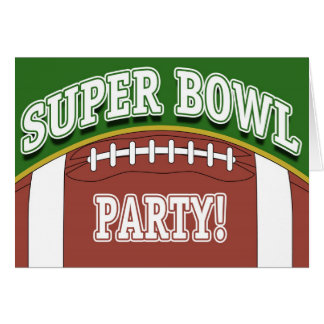 Super Bowl Party Card