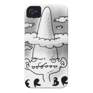 super brain cartoon style illustration Case-Mate iPhone 4 case